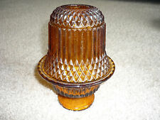 VINTAGE AMBER GLASS FAIRY LIGHT/ INDIANA GLASS
