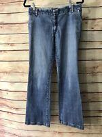 Banana Republic Womens Size 8 Blue Denim Stretch Jeans Light Wash Bootcut Casual