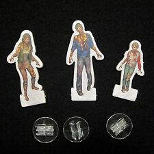 NEW Dead of Winter Long Night - 3 Zombie Standees with plastic stand Game Parts