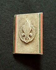 Original French Foreign Legion badge 2nd Foreign Infantry Regiment enameled