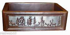 01 Apron Front Farmhouse Kitchen Mexican Copper Sink Pine Deer