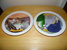 "Two 7.5"" White Porcelain Plates Maxine The Screaming Fit And Whistlers Crabby Au"