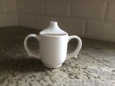 Dignity Cup by Wade Child or Adults two handled drinking Cup White Porcelain