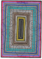 Original ACEO Drawing by Jay Snelling. Outsider Art Brut. Man, figure, portrait