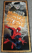 Vintage 1990 Marvel Comics on Sale Here promo poster 48x24 with Spiderman & Hulk