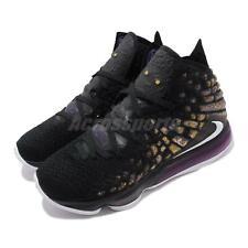 Nike LeBron XVII EP 17 James LBJ Lakers Black Purple Gold Men Shoes BQ3178-004