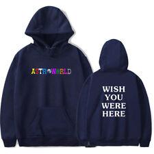 Unisex Travis Scott ASTROWORLD Hoodies Sweatshirts Mens Womens Pullovers Coats L