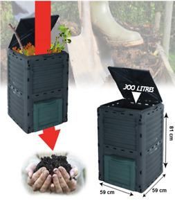 300L Eco Friendly Garden Outdoor Composter Bin Organic Waste Compost Converter