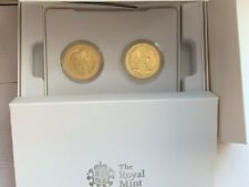2010-2011 Royal Engagement & Wedding Silver Proof Gold-plated 2 X £5 Coins Set