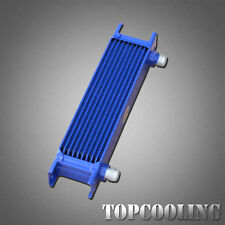 Universal Blue 10 Rows AN10-AN Engine Transmission Oil Cooler Aluminum 248mm