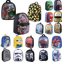 Kids Boys Girls School Backpacks Rucksacks - Minions Star Wars Marvel Simpsons
