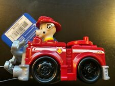 """NWT Nickelodeon Paw Patrol  Rescue Racers MARSHALL Fire Truck Red With Winch 4"""""""