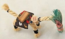 "Handmade Brown Rope 4"" Mule Donkey Figurine - Made in Mexico"