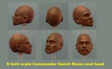custom Star Wars COMMANDER GANCH 6 INCH RESIN CAST HEAD Clonetrooper force black