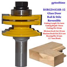 Glass Door Rail & Stile Reversible RSRGD4525-12   12.7mm Shank + Bonus Drill Set
