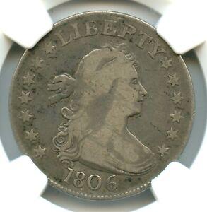 1806 Draped Bust Quarter, NGC VG10