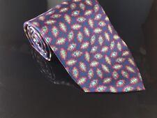 Men's Vintage Christian Dior Tie Navy & Red Amoeba Cell Science Doctor Silk Tie