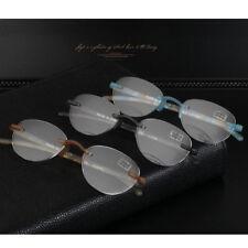 Rimless Reading Glasses Portable TR90 Anti-Reflective Eyeglasses +1.0~+3.5