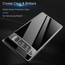 Black Ultra Thin Hybrid TPU Clear Shockproof Case Cover For Samsung Note 8