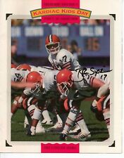 """BRIAN SIPE Cleveland Browns Signed Autographed 8"""" x 10"""" Fold out poster"""