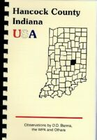 IN HANCOCK COUNTY INDIANA HISTORY/BIOS~THE PIONEER by SAMUEL HARDEN~GREENFIELD