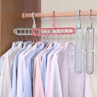 Space Saving Wonder Metal Magic Clothes Shirt Hanger Closet Organize Rack Shelf