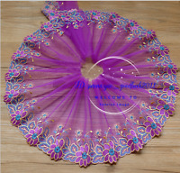 Flower Tulle Lace Trim Ribbon Embroidered for Dess Skirt Sewing Craft doll FL164