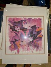 Disney Fine Art 12 x 12 litho Elegant Dragon - Maleficent Stephen Fishwick