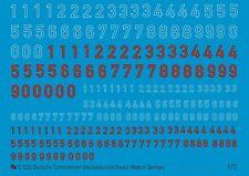 Peddinghaus 1/72 3223 German Turret Numbers Blue/White Red/Black