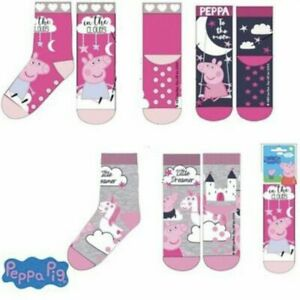 GIRLS PEPPA PIG SLIPPER GRIPPER SOCKS 3 SIZES 3 DESIGNS NEW