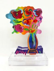 """PETER MAX """"VASE OF FLOWERS"""" 