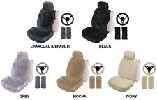 SINGLE 20mm SHEEPSKIN SEAT COVER PACK FOR MITSUBISHI I-CAR (PK 1)