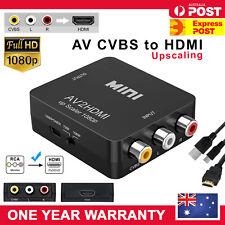Composite AV CVBS 3RCA RCA to HDMI Video Converter 1080p Upscaler Upscaling