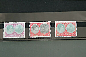 ST KITTS-NEVIS - GVI TRIO OF HIGH VALUES TO 5 SHILLINGS - ALL U/MINT (PERF 14)