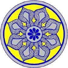 30 Custom Vintage Blue Floral Medallion Personalized Address Labels
