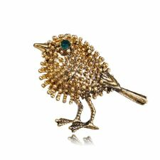 Badge Collar Women Jewelry Party Gift Hot Lovely Vintage Crystal Bird Brooch Pin
