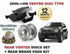 FOR SSANGYONG REXTON RX270 2.7DT 2006> REAR VENTED BRAKE DISC SET + DISC PAD KIT