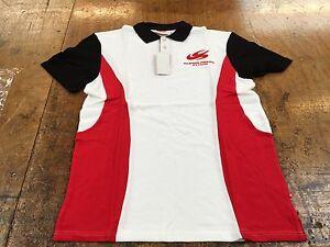SUPER AGURI F1 White polo shirts Honda Bridgestone (SIZE EXTRA LARGE)