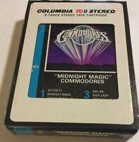 Commodores-Midnight Magic 8-Track Tape-Good Condition