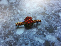 VINTAGE OLD PIN BROOCH ,BADGE E.B.A RED ROSE lovely Detail Old Badge Brooch Pin