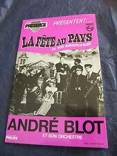 Partition La fête au pays ou Vive monsieur le Maire André Blot Accordéon