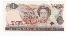 1981-92  NEW ZEALAND ,RESERVE BANK 1 DOLLARS  SPECIMEN - UNC