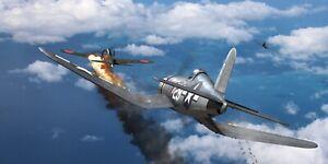 """WWII WW2 USN Vought Corsair F4U Kepford  Aviation Art Photo Print - 24"""" X 12"""""""