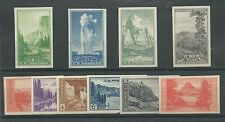 Scott # 756-65 Imperforate National Parks - Mint NH Set - Cat. Value $15.50