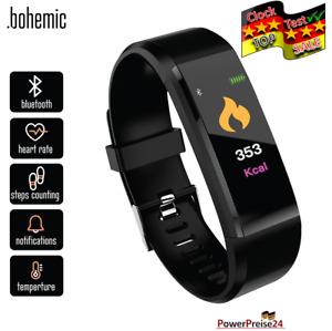 Smartwatch Bluetooth Armbanduhr Schrittzähler Pulsuhr Fitness Tracker IP67