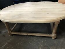 Solid Pine Oval Coffee Table Furniture