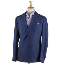 NWT $950 L'8 (L.B.M. 1911) Blue Herringbone Melange Wool-Cotton Sport Coat 42 R