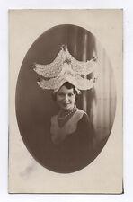PHOTO ANCIENNE  Femme Costume traditionnel Folklorique Coiffe Dentelle 1920 1930