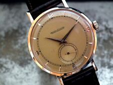 Stunning 1950's Oversize 18ct Rose Gold Jaeger le Coultre Gents Vintage Watch