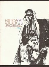 12-2-70  ATLANTA HAWKS AT PHOENIX SUNS GAME PROGRAM